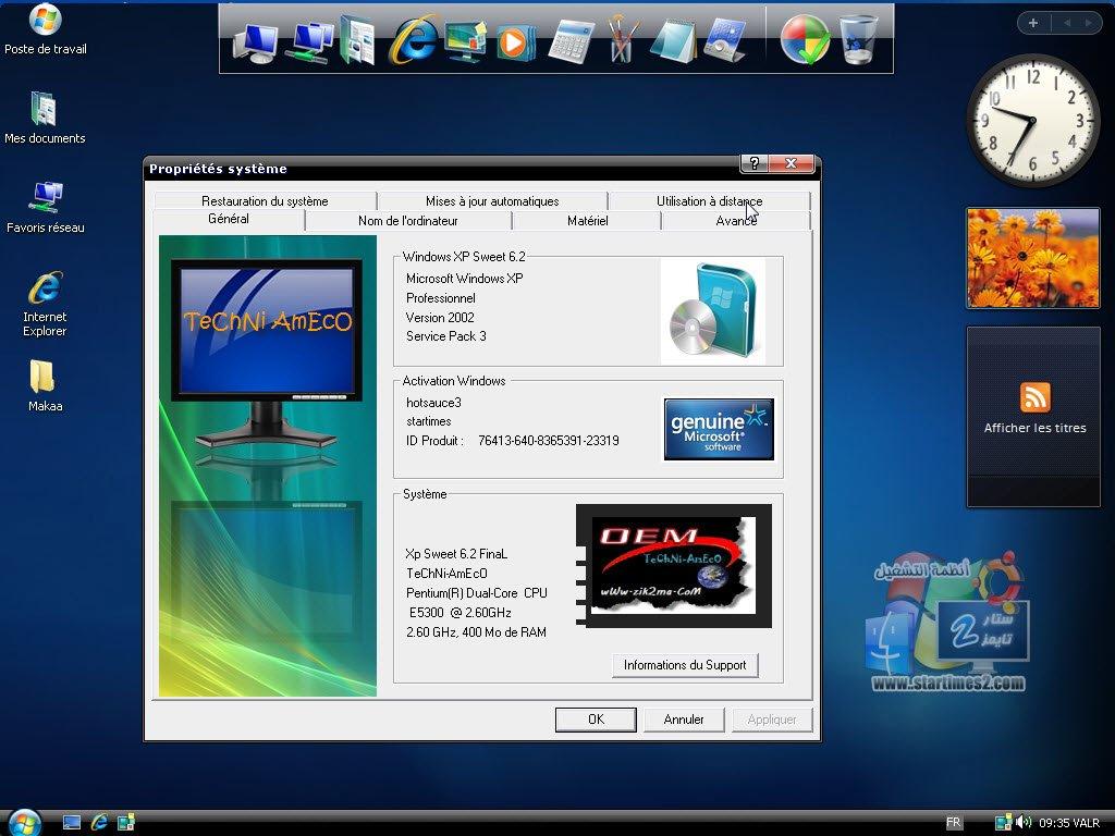 GRATUIT 6.2 TÉLÉCHARGER XP SWEET STARTIMES WINDOWS